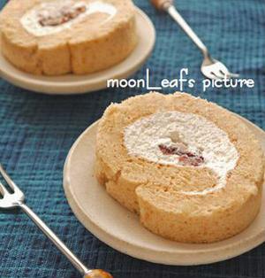 小豆きな粉ロールケーキ*recipe