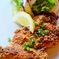カリカリ鶏肉のマスタード焼き