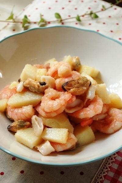 シーフードの明太ポテトサラダ