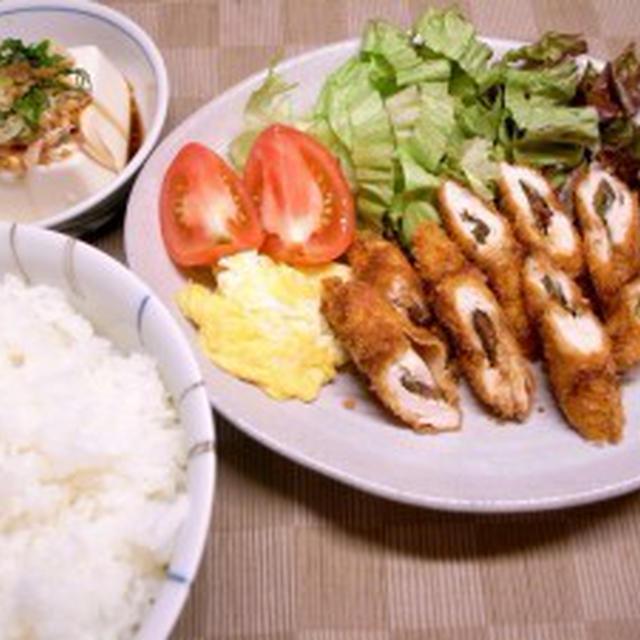 鶏ささみの梅シソはさみフライ【昔ながらの梅干しにご飯がススムくん】