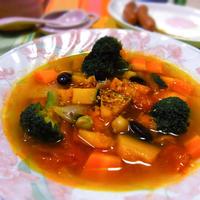 たっぷり野菜の食べるスープ♡