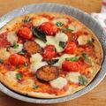 市販の生地で簡単♪ナス入りマルゲリータピザ