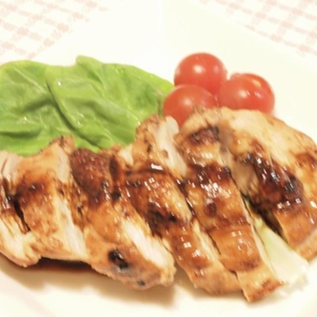 鶏胸肉の塩麹漬・柚子胡椒風味