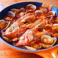 あからはちめのズッパディペッシェ♪フライパンひとつで作る簡単イタリアン@海の幸たっぷりトマトスープ!