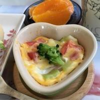 朝ごはん♡チョー簡単ブロッコリートマトのココット
