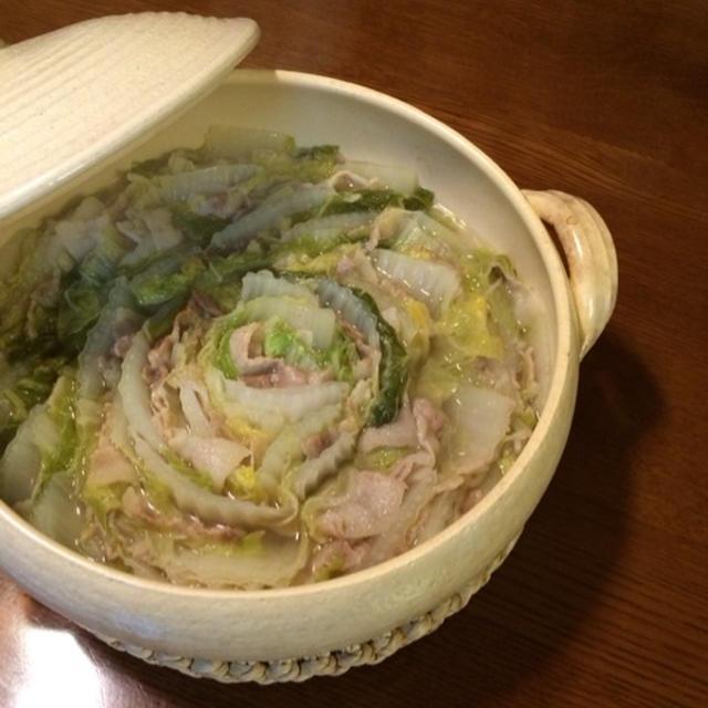 白菜と豚バラのお鍋