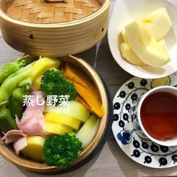 低糖質朝ごはん   蒸し野菜