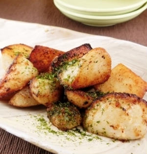 カリッカリで美味しい!里芋のバター醤油焼き