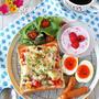 ワンプレート朝ごはん♪具は作り置き1つで朝楽絶品ピザトースト by ぱお