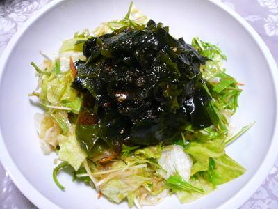 チョレギサラダ(韓国風ドレッシングのサラダ)