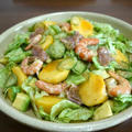 【簡単レシピ】柿の海老とアボカドの生ハムサラダ♪ by bvividさん