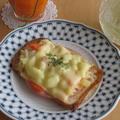 朝食に♪簡単ポテサラ☆トースト