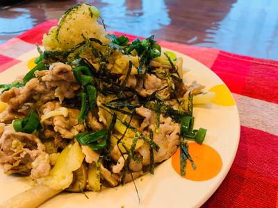 豚こま野菜とカリフラワーのカレー炒め