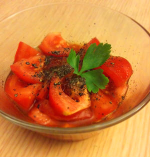 【簡単副菜3分!】トマトのポン酢和え