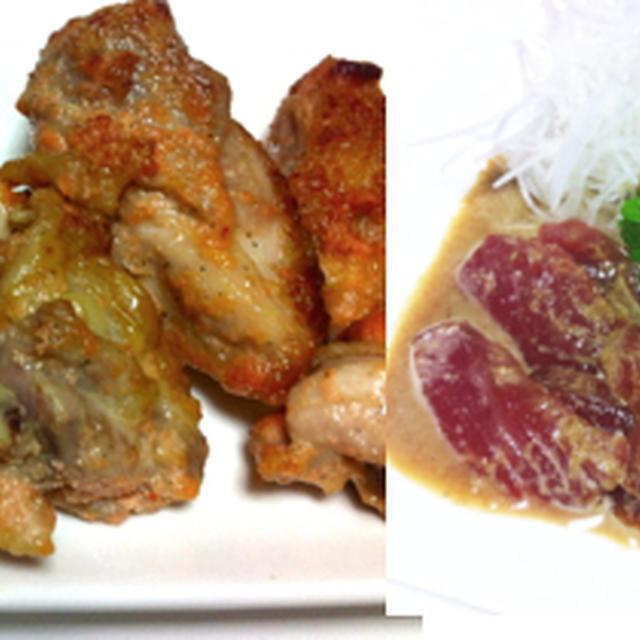 鶏の明太マヨ焼き、マグロのゴマ漬け、サンマの蒲焼 他
