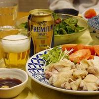 【うちレシピ】お鍋ひとつで★海南チキンライス風 / 【参加中】週末はザ・プレミアム・モルツと肉料理でちょっと贅沢に愉しもう♪