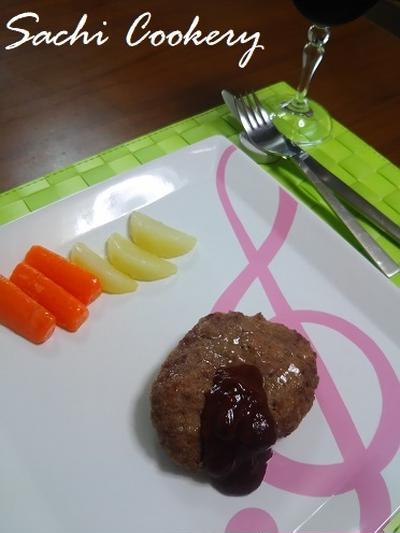美味しいハンバーグの食べ方&発表会中止