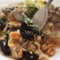 シンプル味付け♪アサリ&春野菜のプルーン玄米サラダ