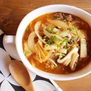 簡単*ぽかぽか温まる具だくさんキムチスープ