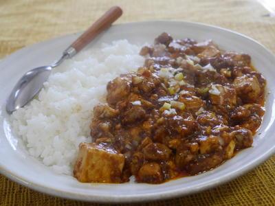 豚バラ肉のカレーマーボー豆腐