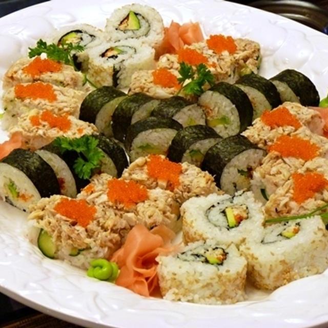蟹づくし寿司プレート