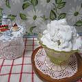 桃とココナッツのアイス