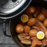 ストウブで「豚の角煮」の晩ごはん