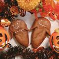 【HBでお家パン】ハロウィンなお化けチョコパン♪