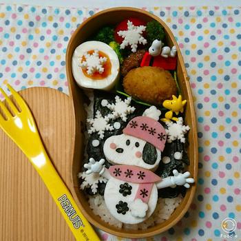 雪だるまスヌーピー弁当