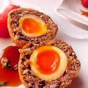 とろ~り味付け卵の和風スコッチエッグ♪