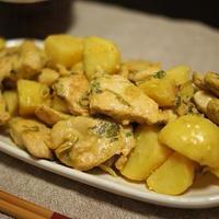 鶏肉とじゃがいものマスタードソテー~ナムルの素を使って~