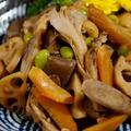 ■和食一品料理【この季節ならではの 贅沢な根菜の五目炒め煮】です♪