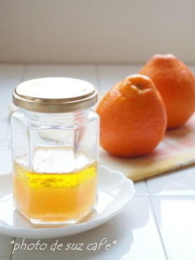 オレンジドレッシングとハーブの小花。。。