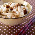 きのことツナの炊き込みごはん♪炊飯器でスイッチぽん!白だしで楽チン秋ごはんレシピ