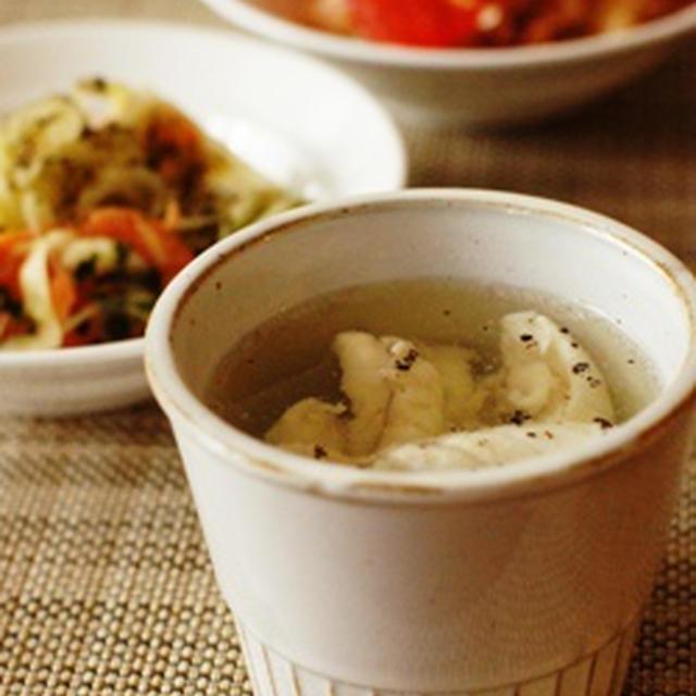 鯛のあらスープ