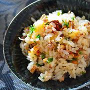 和風しょうゆドレッシングで 秋のスタミナ炊き込みご飯