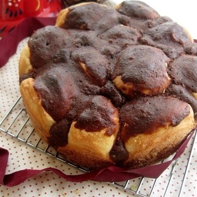 ケーキ風ココアinチョコちぎりパン