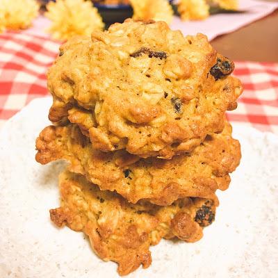 秋の味 かぼちゃとオートミールとレーズンのクッキー