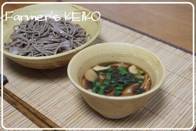 お米の花 ~レシピは麺は冷たくだしは熱い『冷熱エリンギそば』です~