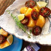 +*柿とトマトのサラダ+*