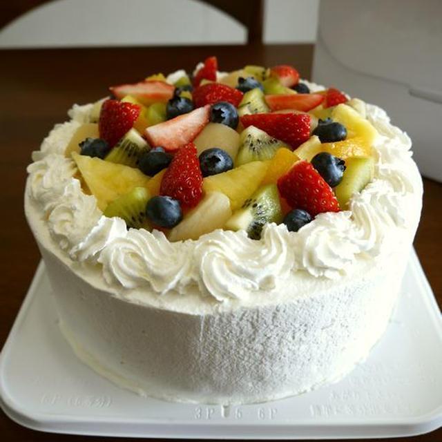 【クリスマス♡レシピ】簡単!フルーツデコレーションケーキ♪