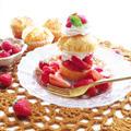 混ぜるだけヨーグルトマフィンで☆アメリカンストロベリーショートケーキ by ルシッカさん