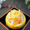 【レシピ】柚子カップの紅白なますとクリスマスディナー