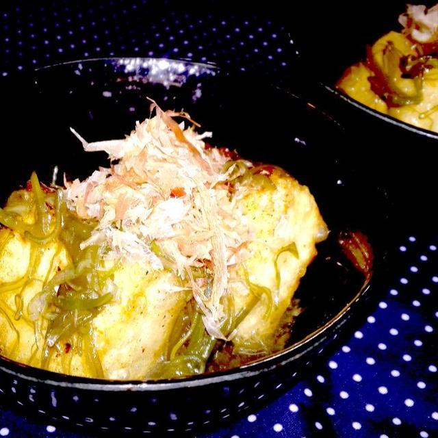 【レシピ】 揚げだし豆腐のめかぶ和え(^^♪