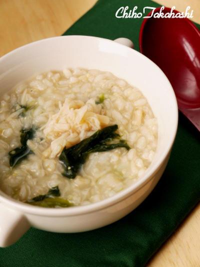 発芽玄米のホタテ粥