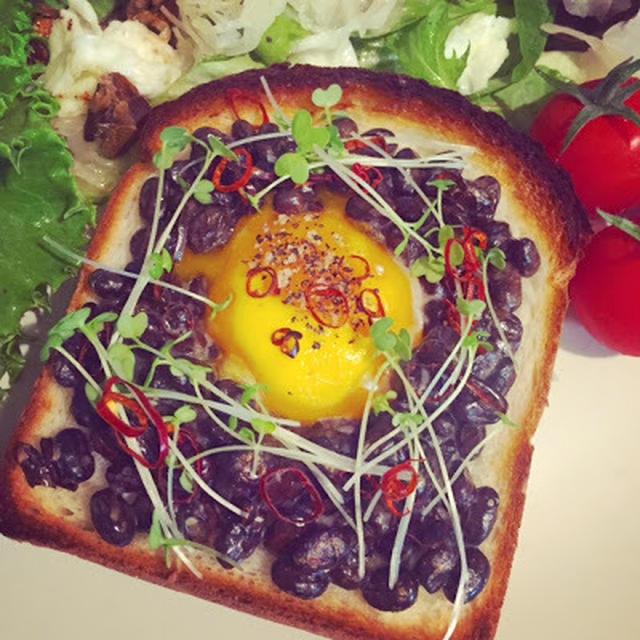 黒豆納豆トースト