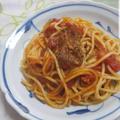 鶏のビネガー風味のソース de パスタ