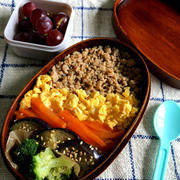 【1年生のおべんとう】簡単のっけ弁!4色丼と甘辛豚丼