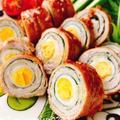 うずらの卵と大葉の肉巻きガリバタ醤油(動画レシピ)/Quail's eggs and perilla Meat rolls.