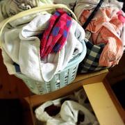 洗濯が追いつかない。